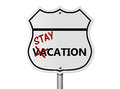Taking a stay-cation Royalty Free Stock Image