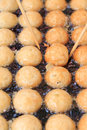 Takoyaki making how to dotakoyaki thailand Royalty Free Stock Photos