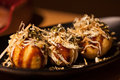 Takoyaki octopus balls japanese food Royalty Free Stock Images