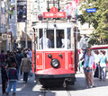 Taksim istiklal street istanbul may at eventide on may in istanbul turkey is a popular tourist destination Stock Image