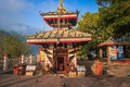 Tal barahi temple of phewa lake pokhara nepal the taal is in the middle the in Royalty Free Stock Photography