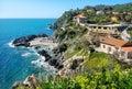 Talamone coastline. Grosseto region, Tuscany, Italy Royalty Free Stock Photo