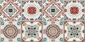 Talavera pattern. Indian patchwork. Azulejos portugal. Turkish ornament. Moroccan tile mosaic