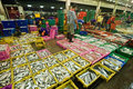 Talaythai seafood market thailand samutsakorn september trading center of fish and products processing integrated in the Stock Photos