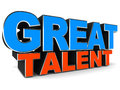 Talent great words on white background concept of appreciation Stock Photography