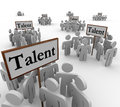 Talent Groups People Job Prospects Candidates Applicants Signs Royalty Free Stock Photography