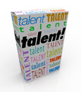 Talent Word Product Box Sell Your Skills Marketing Royalty Free Stock Photo