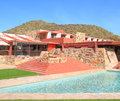 Taliesin west south frank lloyd wright began building desert masterpiece as his personal winter home studio architectural campus Royalty Free Stock Photography