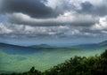 Talimena Drive, Ouachita mountains, dramatic skies.