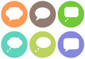 Talk balloon icon designs a set of for graphic element use Royalty Free Stock Image