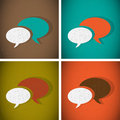 Talk bubbles vintage abstract background Royalty Free Stock Images