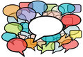 Talk in colors speech bubbles social media Royalty Free Stock Image