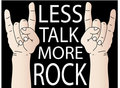 Less Talk More Rock Royalty Free Stock Photography