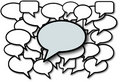 Talk in speech bubbles social media Royalty Free Stock Images