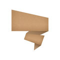 Talk tag recycled paper Royalty Free Stock Photo