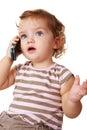 Talkative kid Stock Image