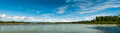 Talkeetna river panoramic view of alaska usa Stock Images