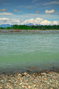 Talkeetna river view of and mckinley mountain alaska usa Royalty Free Stock Photos