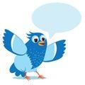 Mluvení modrý pták