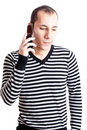 Talking on cellphone Stock Images