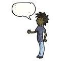 Talking teenager cartoon Stock Images