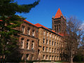 A tall bell tower and the altgeld building in the university of illinois and urbana champaign uiuc altgeld hall which was added to Royalty Free Stock Photo