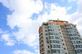 Tall building modern multi storey apartment block Stock Image