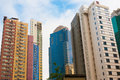 Tall buildings of concrete and glass on a background the cityscape Royalty Free Stock Images