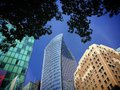 Buildings in Downtown Vancouver, British Columbia, Canada Royalty Free Stock Photo