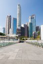 Tall buildings in hong kong at sunny day Royalty Free Stock Photos