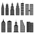 Tall buildings and skyscrapers architecture Royalty Free Stock Image