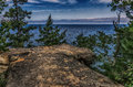 Tall cliff overlooking Lake Superior Royalty Free Stock Photo