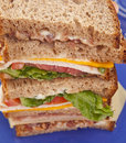 Tall Club Sandwich Stock Photography