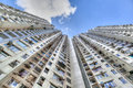 Tall Concrete Highrise Housing in Hong Kong Royalty Free Stock Photo
