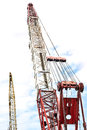 Tall crane the in place of work Royalty Free Stock Photography