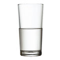 Tall half full glass of water  w clipping path Royalty Free Stock Photo