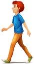A tall man walking Royalty Free Stock Photo