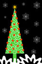 Tall Narrow Christmas Tree Royalty Free Stock Photography