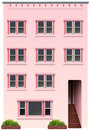 A tall pink building Royalty Free Stock Photo
