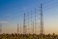 Tall radio antennas Royalty Free Stock Images