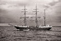 Tall ship alexander von humboldt ii at the german baltic sea hanse sail parade Stock Photos