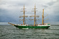 Tall ship alexander von humboldt ii at the german baltic sea hanse sail parade Royalty Free Stock Photography