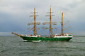 Tall ship alexander von humboldt ii at the german baltic sea hanse sail parade Royalty Free Stock Photo
