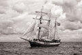 Tall ship atlantis at the german baltic sea hanse sail parade Stock Images
