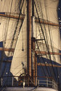 Tall ship in californian harbor Royalty Free Stock Image