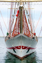 Tall ship large barquentine schooner barque front prow Royalty Free Stock Photos