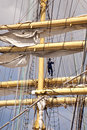 Tall ship mast of a in kiel Royalty Free Stock Images