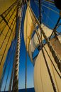 Tall ship mast and sails Royalty Free Stock Photo