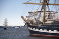 Tall ship in port of kiel Royalty Free Stock Photo
