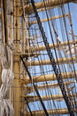 Tall ship in port of kiel Stock Photos